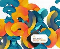 Abstract color geometric round shapes on white royalty free illustration