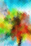 Abstract color grid triangle geometric background Stock Photography