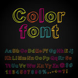 Abstract color hand drawing font Royalty Free Stock Image
