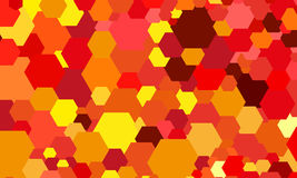 Abstract color hexagon background Royalty Free Stock Photos