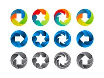 Abstract color icon set Stock Photography
