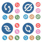 Abstract color icons - arrows Royalty Free Stock Photography