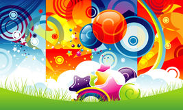 Abstract color illustration Stock Photography