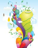 Abstract color illustration  Stock Images