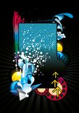 Abstract color  illustration. Over a black background Stock Image