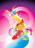 Abstract color illustration composition Stock Photography