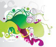 Abstract color ink shape  Stock Photography