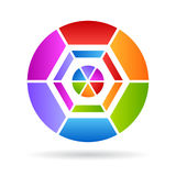 Abstract color kaleidoscope Royalty Free Stock Photography