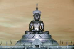 Abstract color of Large outdoor Phra Phuttha Maha Thammaracha Buddha. Royalty Free Stock Images