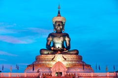 Abstract color of Large outdoor Phra Phuttha Maha Thammaracha Buddha. Stock Photos