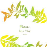 Abstract color leaf background. Vector illustration royalty free illustration