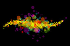 Abstract color light pattern stock illustration