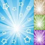 Abstract color light rays background. Abstract color light rays with white stars and stripes Vector Illustration
