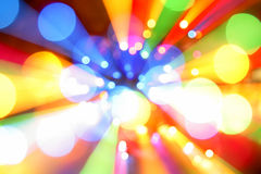 Abstract color lights. Abstract beams of colorful lights projecting outward Royalty Free Stock Photos