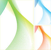 Abstract color lines. Abstract color lines on white background. Vector illustration Stock Photography