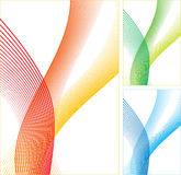 Abstract color lines. Abstract color lines on white background. Vector illustration Stock Images