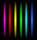 Abstract color lines. Isolated on black background Royalty Free Stock Image