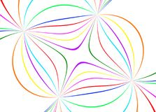 Abstract color lines. On white background Stock Photo