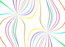 Abstract color lines. On white background Royalty Free Stock Photo