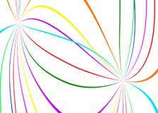 Abstract color lines. On white background Stock Image