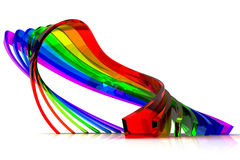 Abstract color lines background Royalty Free Stock Photo