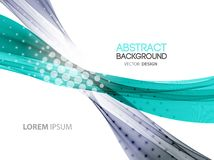 Abstract color lines background. Template brochure Stock Photography