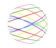 Abstract color lines ball. On white background Royalty Free Stock Photography