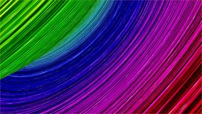 Abstract color lines. 3d illustration Stock Photos