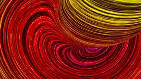 Abstract color lines red and yellow 3d illustration. Abstract color lines 3d illustration Stock Illustration