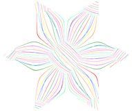 Abstract color lines flower. On white background Stock Photo