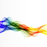 Abstract color lines wave design. Easy editable Royalty Free Stock Photography