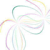 Abstract color lines. On white background Royalty Free Stock Photography