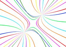 Abstract color lines. On white background Stock Images