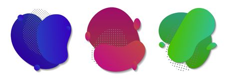 Abstract color liquid shape. Fluid gradient background vector illustration