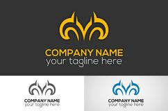 Abstract color logo. Abstract metalic logo  design Stock Image