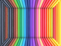 Abstract color made from color pencils Royalty Free Stock Photos