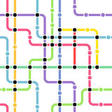 Abstract color metro scheme Stock Photography