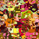 Abstract color mosaic animals vector pattern Royalty Free Stock Photo