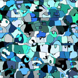 Abstract color mosaic animals vector pattern Stock Photography
