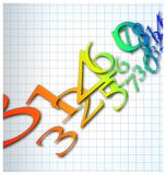 abstract color number background stock illustration