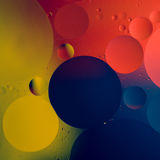 Abstract color oil drops royalty free stock photos
