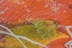 Abstract color oil paint background stock image