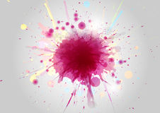 Abstract Color paint splashes on abstract background stock illustration