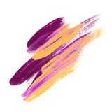 Abstract color paint stroke. Royalty Free Stock Photography