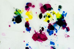Abstract color painting wallpaper made from water color Royalty Free Stock Images