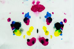 Abstract color painting wallpaper made from water color Stock Photo