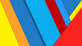 Abstract Color Papers Texture for Geometric Background. Abstract image of blue, red, orange and yellow papers for geometric background, business card, poster vector illustration