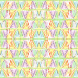 Abstract color pastel seamless pattern in primitive style. stock photography