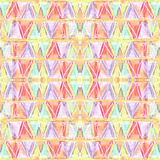 Abstract color pastel seamless pattern in primitive style. Royalty Free Stock Photography