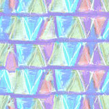 Abstract color pastel seamless pattern in primitive style. Stock Image
